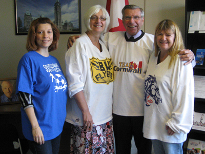 Lauzon participates in Sports Day in Canada