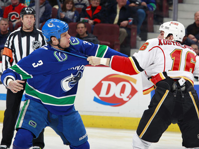 Canucks in giving mood, lose to Flames