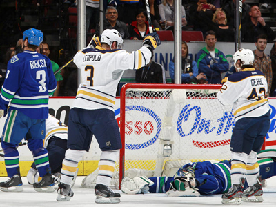 Luongo's Pitiful Start Dooms the Canucks. Lose to Sabres 5-3