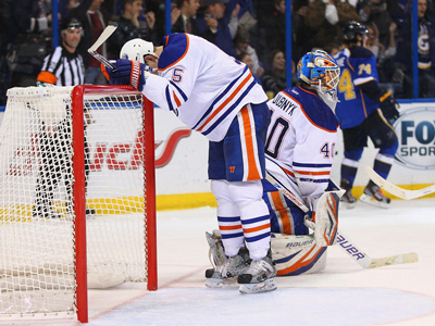 Oilers blow two goal lead and lose Hall to injury