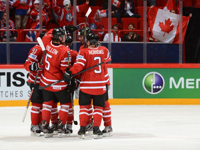 Hall scores twice as Team Canada crushes Norway