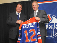 Krueger actually helped the Oilers take a step forward in 2013