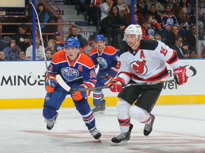 Nugent-Hopkins fantastic in return, as Oilers comeback to edge Devils