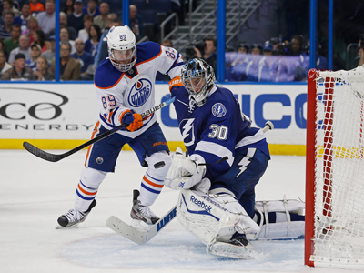 Hall scores but Oilers still fall to Bishop and the Bolts
