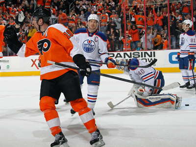 Oilers the perfect tonic for slumping Flyers, as Giroux nets game-winner