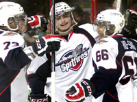 Milne scores Game Winner in Spits debut