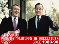 Last time Red Wings missed playoffs, Bush Sr. and Mulroney were in office
