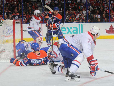 Oilers make it four straight with shutout win over Price-less Habs