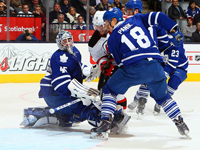 Depleted Devils defeat Maple Leafs