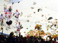 Rangers win big over Otters, 9882 Teddy Bears collected