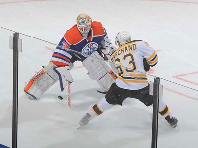 Oilers: Scrivens steals show in win over Bruins