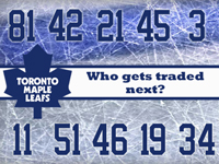 Maple Leafs - Who gets traded next?