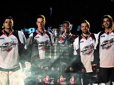 Luchuk and the Spits inspired by the raising of the banner, in a celebratory win over rivals London