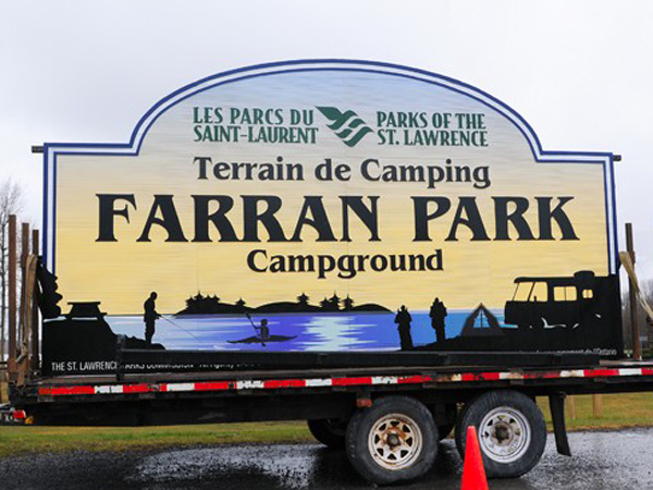 New St. Lawrence Parks Commission sign soon to be erected at Farran Park
