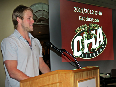 Sens Jesse Winchester was keynote speaker at OHA grad