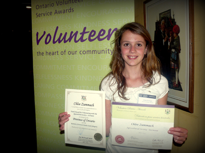 Volunteers recognized at the Ontario Volunteer Service Awards