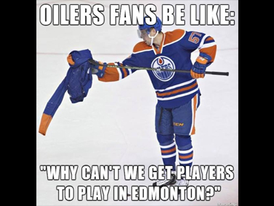 Oilers Fans Doing All They Can To Be Dark Mark Of The League