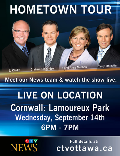 CTV News at Six to broadcast live from Cornwall