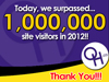 Over one million visitors in 2012!  Thank you!