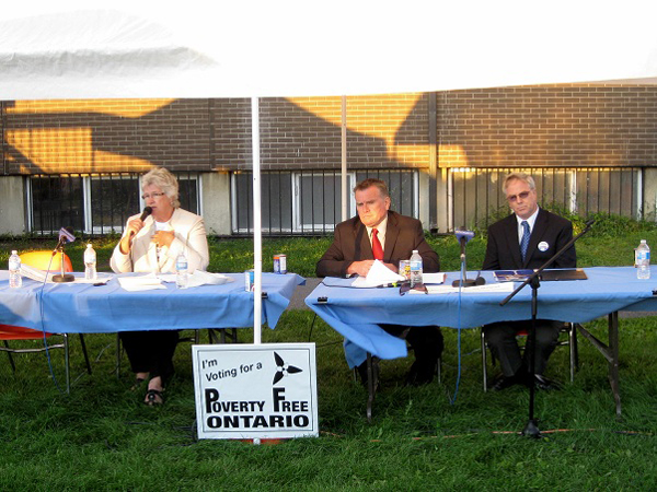 SNAPSHOT - Candidates debate at Poverty Free Ontario Rally