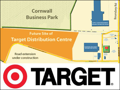 Target to build 1.3 million square foot Distribution Centre in Cornwall