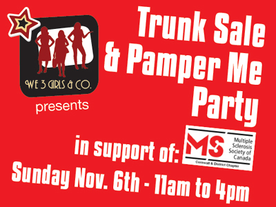 Trunk Sale and Pamper Me Party to support MS