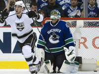 Canucks collapse in Game One and lose to underdog Kings