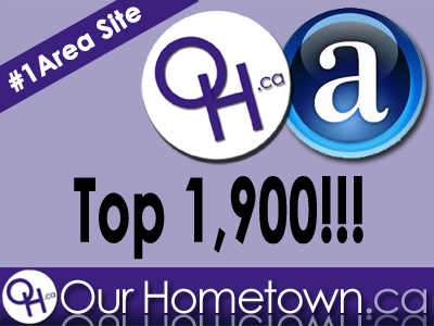 First area online news site to break into top 1,900 in Canada!