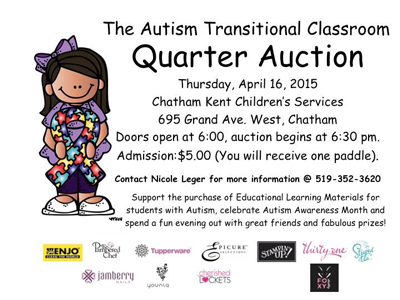 The Autism Transitional Classroom Quarter Auction
